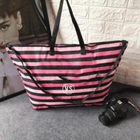 be75ec762d 2018 New luxury brand fashion bags women designer handbag shoulder bags  strip bags shopping bag canvas fabric