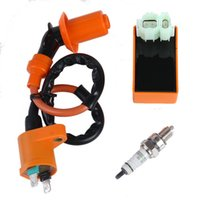 Wholesale Gy6 Performances 125cc - New Arrival Motorcycle Performance CDI+ Ignition Coil + Spark Plug Fit Gy6 50cc 125cc 150cc
