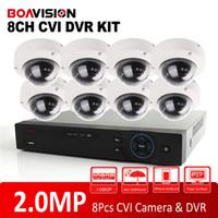 Wholesale High Cctv System - Analog High Definition Dahua Solution HD CVI System 8CH 1080P Support 2.0MP 8Pcs Outdoor Dome CVI Camera IR 10m CCTV HDCVI DVR Kit