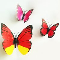 Wholesale Televisions For Wholesale Prices - Room Butterfly Decoration colorful Living room bedroom 3D Butterfly Wall sticker PVC Wall paster stickers 12 pcs set factory price on sale