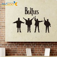 ingrosso arredamenti beatles-Beatles Wall Decals 2014 Nuovi disegni Removabl Musica The Beatles Vinyl Wall Stickers Home Decor ZY8192 Wall Art Decalcomanie