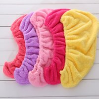 Wholesale Magic Hair Dry Drying Towel - Dry Hair Shower Cap Womens Girls Lady Magic Quickly Drys Towel For Multi Colors High Quality 3 8zy C R