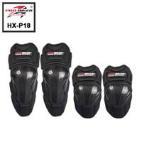 Wholesale Carbon Elbow - 4Pcs set Carbon Motorcycle Protective Knee Pads Motorcycle Racing Elbow Equipment Motocross Joelheiras Rodilleras de Motociclta