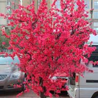 ingrosso albero di bonsai rosso-10 pz rosso giapponese fiori di ciliegio semi cortile giardino bonsai semi piccoli sakura albero semi colori misti