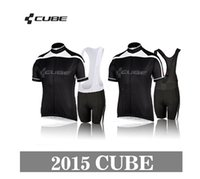 Wholesale Cube Jersey Bib - Wholesale-New Styles team cube Cycling Jerseys Bike Jersey +bib cycling Shorts cube 2015 Men's sports riding bicycle clothes