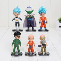 Wholesale Master Roshi Figure - 6pcs set 8-10cm Dragon Ball Son WCF Gokou Vegeta Piccolo Krillin Master Roshi PVC Figures Model Toys