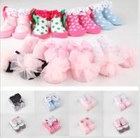 Wholesale Children Socks Wholesale Floor - 19 Style Baby Girls Room Socks Children Clothes Princess Pure Cotton Lace Short Socks Kids Cloth Floor Socks 20pairs lot 10cm K2221