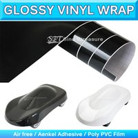 3 Layer Glossy Vinyl Wrapping Gloss Folha de tecido Car Body Sticker Shiny Self Adhesive Wrap Air Bubble Free 1.52x30m 5x95Ft