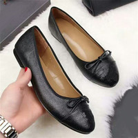 Yuf34 Black Bow Bowtie Patchwork Pelle bovina Vero cuoio Ballerine Ballerine Lady Slip On Office Lady Scarpe donna Scarpe Dress Sz 35-41