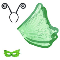 HOT Butterfly cape 110 * 60cm satincostume cosplay di Halloween