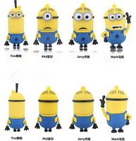 Wholesale Despicable Minion 8gb - 2015 Cute cartoon Minions Despicable Me 4GB 8GB 16GB 32GB USB2.0 Flash Drive Real USB stick from goodmemory