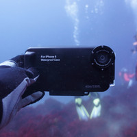 Wholesale Underwater Photo Cameras - Freeshipping 40m 130ft Underwater Camera Housing Photo Taking Waterproof Diving Protective Case Cover for Apple iPhone 7 Plus ,6 6s Plus