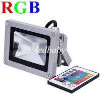 luz brilhante rgb venda por atacado-RGB Luz de Inundação Ultra Brilhante RGB 10 W Conduziu Luzes de Inundação Branco Quente Levou Ao Ar Livre Paisagem Lâmpada Projetor Luz 85-260 V