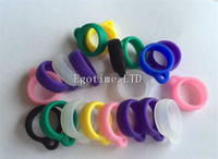 Wholesale Ego Holder Lanyard - HOT!!! Silicone Ring For Ego Lanyard Vaporizer Necklace Holder Relacement E-Cigarette Necklace String Ring eGo t vv c w EVOD battery Series