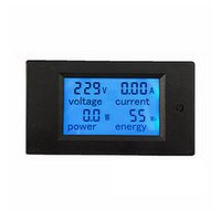 Wholesale Electrical Storage - 1pcs New LCD AC 80-260V 20A Voltmeter Ammeter Volt Ampere Power Energy Meter Gauge With Blue Backlight Data Storage Function