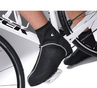 Wholesale Mountain Bike Lock Shoes - Wholesale-Windrpoof waterproof fleece thermal ciclismo Mountain sport Bike Cycling Shoe Cover OverShoes Bicycle Riding Lock Shoe Covers