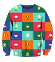 Wholesale South Park Clothing - Real USA Size 3D Sublimation print crewneck Sweatshirt South Park Deluxe Collage unisex men women streetwear plus size 6xl clothing
