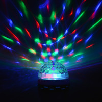 3W Full Color RGB LED Auto Rotating Stage light E27 AC85V - 265V Disco DJ Party Club Bulb para férias Dance Decoração lâmpada