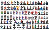 Wholesale Dc Toys - 96 style DC SuperHeroes Marvel Avengers Spider-Man Wolverine Hulk Building Blocks Sets Kids toy Bricks