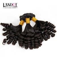 Wholesale human hair egg curl weave resale online - Grade A Unprocessed Cambodian Aunty Funmi Curly Virgin Human Hair Weaves Bundles Romance Sprial Bouncy Egg Curls Natural Color Can Bleach