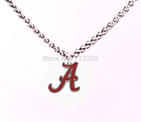 Wholesale Slide Enamel - Enamel single-sided Alabama Crimson Tide logo chain necklaces Free shipping Wheat Link Bracelet Chain with Large Clasp necklace