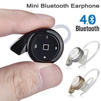 Wholesale Bluetooth Headset Multi Point - Super Small Snail Mini A8 Earphones Bluetooth V4.0 Headset Wireless Earphone Headphone Multi-point Earbud Music Car Handsfree Call Universal