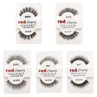 Wholesale Wing Lashes - 15 styles RED CHERRY False Eyelashes Natural Long Eye Lashes Extension Makeup Professional Faux Eyelash Winged Fake Lashes Wispies