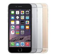 telefonların kilidini açma toptan satış-Orijinal iPhone 6 Unlocked Cep Telefonu 4.7 inç 16 GB / 64 GB / 128 GB A8 IOS 11 4G FDD Destek Parmak Izi Yenilenmiş Telefon