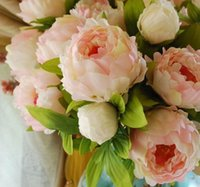 Wholesale good quality silk flowers resale online - good quality Bouquet Artificial Silk Fake Flowers Real Touch Peony Home Wedding Party Decoration