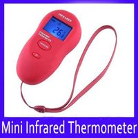 Wholesale Ir Body Thermometer - Mini digital baby body IR infrared thermometer DT8260 range -50~+260C MOQ=1 free shipping