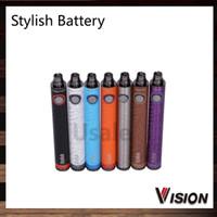 Wholesale Ego Stylish - Vision Stylish Updated Ego Battery 1300mAh E Cigarette Vision Stylish Battery Variable Voltage 3.3V- 4.8V for 510 thread 002682