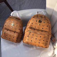 Wholesale leather canvas rucksack - women fashion leather backpack high quality luxury brand rabbit printing backpacks for girls shoulder bags designer rucksack leather bagpack