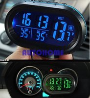 1 X Multi-fonctionnel 12V 24V Digital Car Auto Truck Clock Tension Thermomètre de température Alarme Moniteur commande $ 18no track