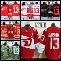 Wholesale Detroit Patch - 2016 Stadium Series Detroit Red Wings Hockey Jerseys #13 Pavel Datsyuk Jersey Home Red Camo Black Stitched Jersey A Patch