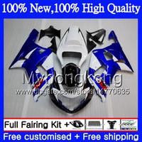 Wholesale Fairings For Motorcycles - Body Motorcycle For SUZUKI GSX-R600 GSXR 750 K1 GSXR750 01 02 03 Blue white 23MY20 GSXR 600 01 03 GSX-R750 GSXR600 2001 2002 2003 Fairing