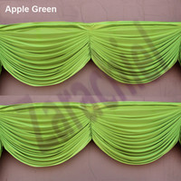 Wholesale Curtain Lights For Wedding Backdrops - High quality drape swag to attach ice Silk Wedding Backdrops home curtain swag Wedding swags backdrops for wedding decoration
