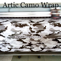 Noir blanc Gris CAMO Graffiti Camouflage Vinyl Wrap Sheet Stickerbomb Arctic Camo Sticker Car Trunk Wrap Vehicle Styling Cover 1.52x 30m