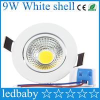 Wholesale recessed lights for home resale online - COB Led Ceiling Light W Dimmable Recessed Wall Spot Down Lamp Warm Cool White For Home Lighting V V