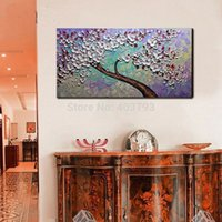 Wholesale Canvas Paints For Sale - Luxury modern canvas hand painted wall pop art flower pictures abstract oil painting art paintings for living room sale