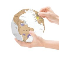 Scratch Globe Deluxe New Generation DIY Erase Travel Map decoração de parede Personalized World Scratch Map Mini Scratch c333