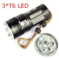 Wholesale 5000 Lumens x XM L T6 SKYRAY T6 Led Flashlight SKYRAY KING Mode Led Torch Flash light Lantern by x Battery