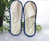 Wholesale one time slippers hotel - Cheapest nice quality soft one-time slippers disposable shoe home white sandals hotel babouche travel shoes