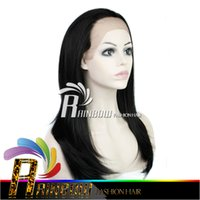 Wholesale Long Cosplay Wigs Free Shipping - Free shipping Great Quality Wig Virgin Brazilian Silk Top Lace Front Wig Glueless Full Lace Human Hair Wigs ombre weave