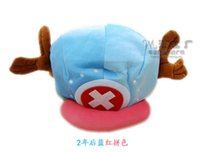 Wholesale One Piece Cosplay Chopper - Wholesale-Hot sale Cute Cartoon Animal hats One Piece Chopper plush cosplay hat after red color Plush Soft caps Earmuff