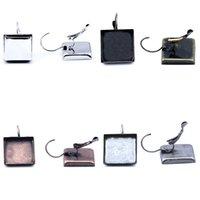 Wholesale Earring Tray Diy - Beadnice women earring trays designs new model cooper earrings square DIY earring base nickel free jewellery findings ID 32223