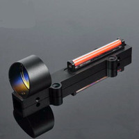Tactical 1X28 Red Circle Dot Rib Rail Fiber Sight Collimeter Light Condutor Reflex Sight Fit 11mm Rail Airsoft