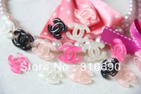 Wholesale Wholesale Logo Cabochons - Wholesale-Free Shipping 50pcs Lot Very Hot and Kawaii Glitter LOGO Resin Cabochons CameoMixed 4colors For DIY Phone Decoraton