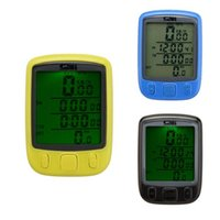 Wholesale Cycle Lcd - Sunding Waterproof Dust-proof Multifunction Cycling Computer Bike Bicycle Odometer Speedometer LCD Backlight English Display 3 Colors 214