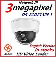 ip 3mp großhandel-2015 neueste englische Version Hikvision IP-Kamera DS-2CD2132F-I 3MP Mini-Dome-Kamera 1080P POE IP CCTV-Kamera mehrsprachig