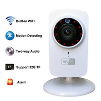 Wholesale hd ip camera audio - HD 1080x720P Wireless IP Camera Portable smart Wifi CCTV Security Camera Webcam Surveillance Camcorder Night Vision Audio Video Telecamera